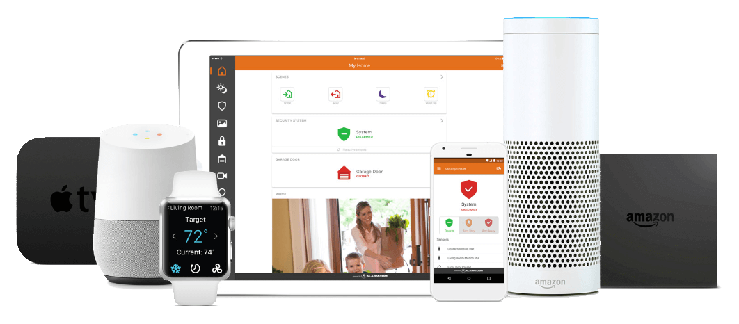 devices that integrate with alarm.com app
